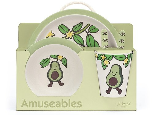 Jellycat Servies Amuseable Avocado Bamboo Set