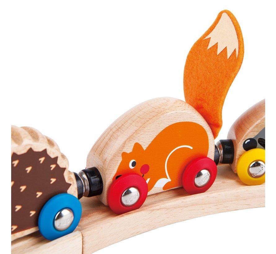 Trein met Bosdieren Tactile Animal Train