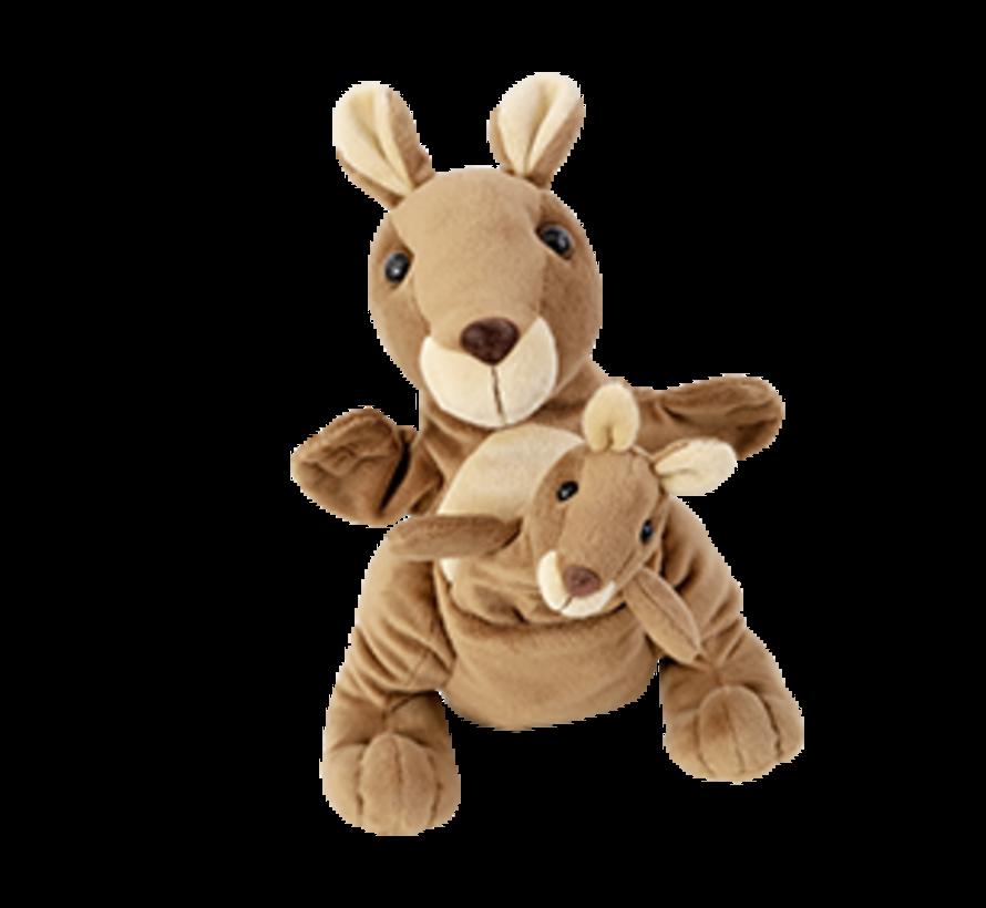 Handpop Kangoeroe met Baby Kanga & Juju