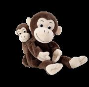 Beleduc Handpop Aap met Baby Cheeta & Bibi