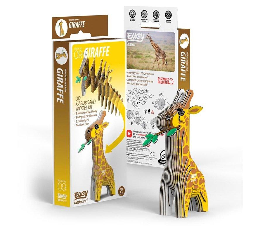 3D Cardboard Model Kit Giraffe