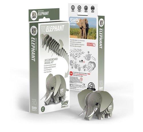 Eugy 3D Cardboard Model Kit Elephant