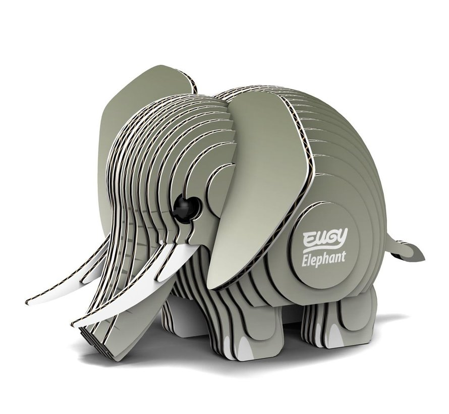 3D Cardboard Model Kit Elephant