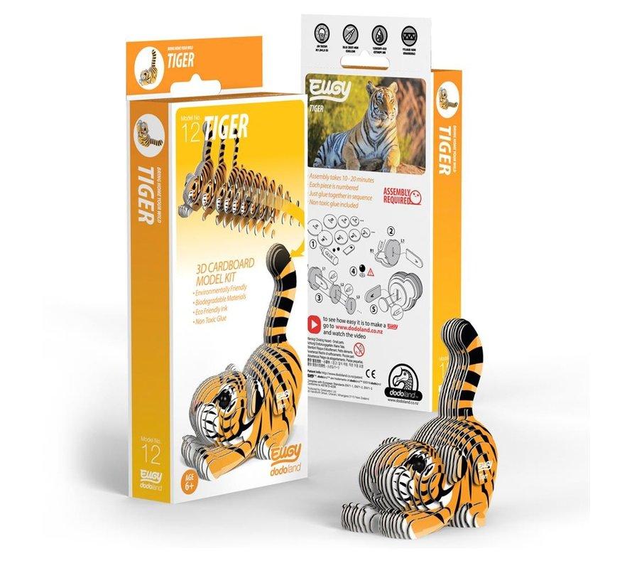 3D Cardboard Model Kit Tiger