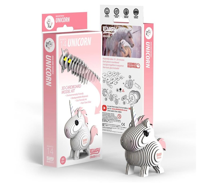 3D Cardboard Model Kit Unicorn