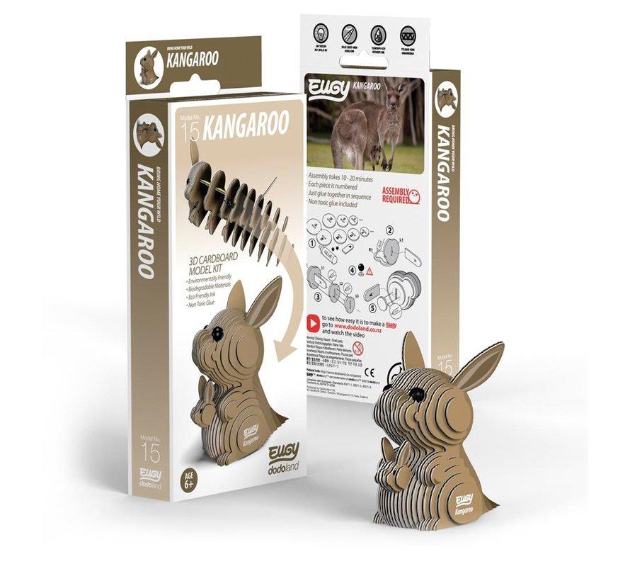 3D Cardboard Model Kit Kangaroo