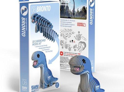 Eugy 3D Cardboard Model Kit Bronto