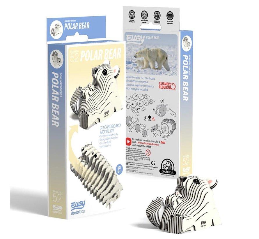 3D Cardboard Model Kit Polar Bear