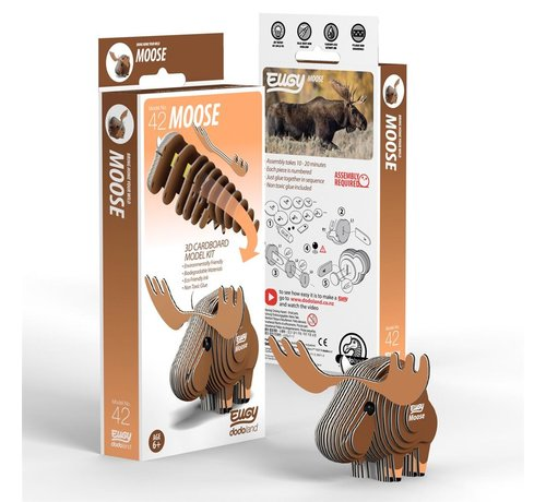 Eugy 3D Cardboard Model Kit Moose