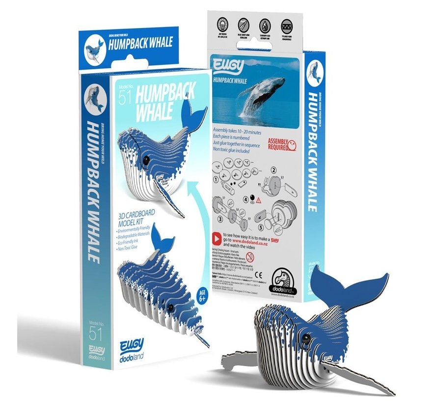 3D Cardboard Model Kit Humpback Whale