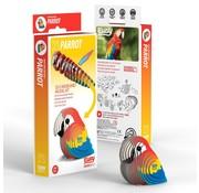 Eugy 3D Cardboard Model Kit Parrot