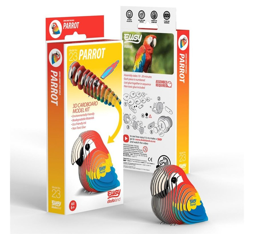 3D Bouwpakket Papegaai