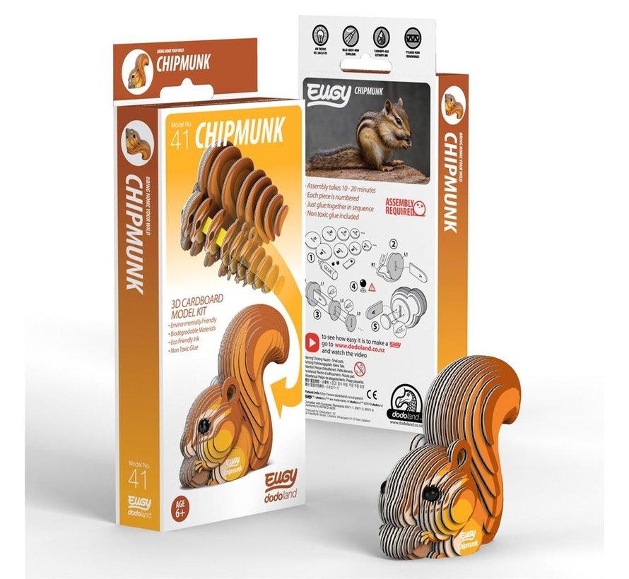 3D Cardboard Model Kit Chipmunk