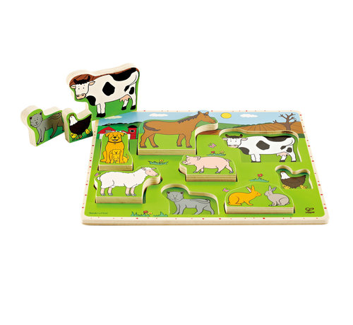 Hape Farm Animals Stand Up Puzzle