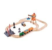 Hape Treinset Spoorwegovergang met Kraan