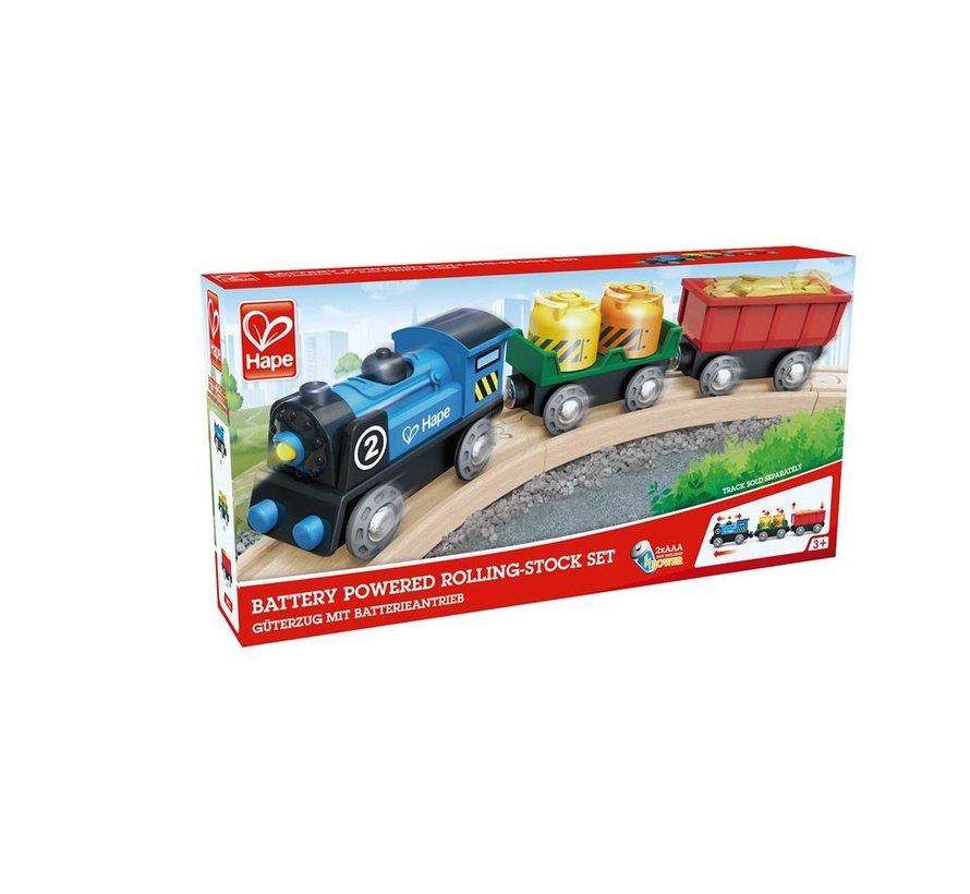 Locomotief met Wagons Batterij