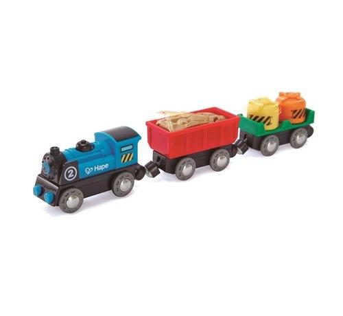 Hape Locomotief met Wagons Batterij