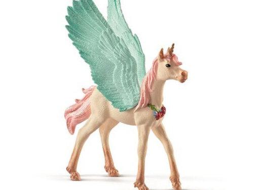 Schleich Bayala Pegasus Eenhoorn Veulen met Juwelen 70575