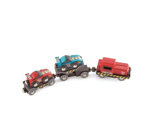 Hape Race Car Transportwagen