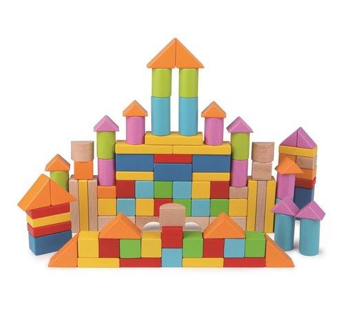 Hape Wonderful Beech Blocks, 101 pcs