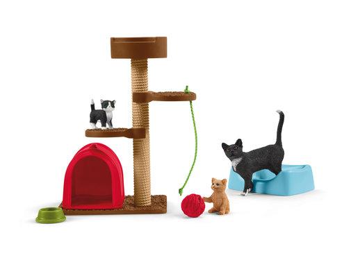 Schleich 42501 Kattenkrabpaal Speelplezier voor Katten