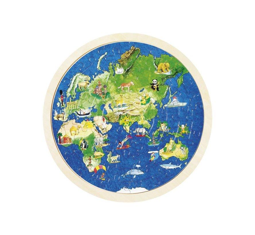 Puzzel Wereldbol