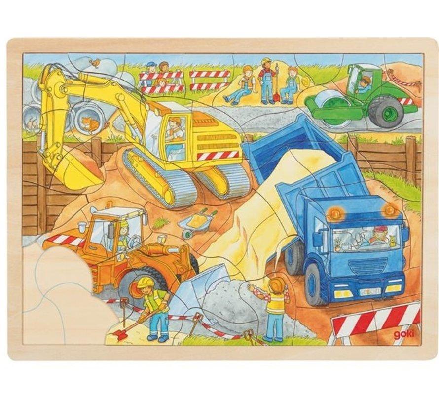 Puzzle Construction Site 56 pcs