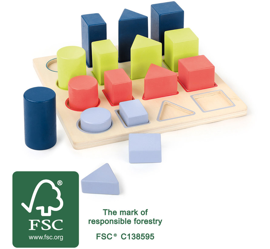 """Geometry Shape-fitting Puzzle """"Educate"""""""