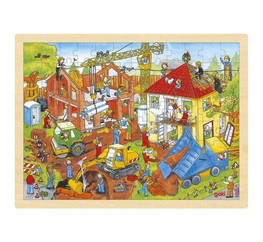 Puzzel Bouwplaats 96 pcs