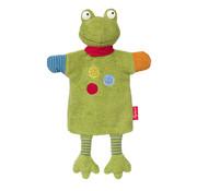 sigikid Hand Puppet and Comforter Dog Flecke Frog