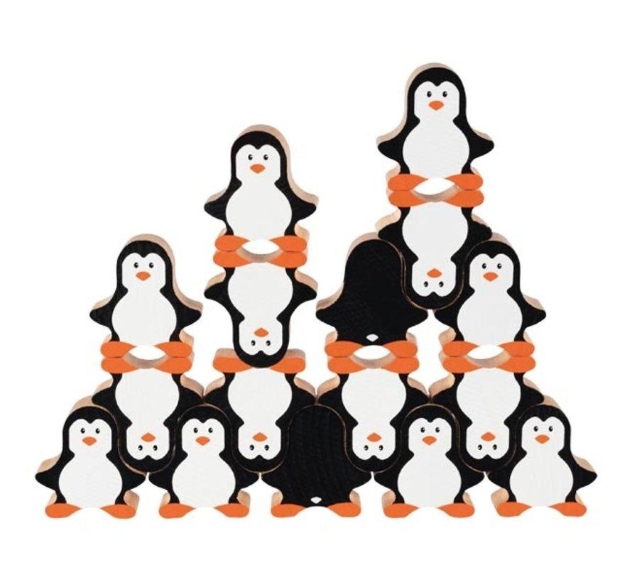 Penguin stacking game