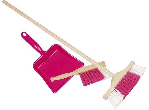 GOKI Plastic dustpan, handbroom and broom