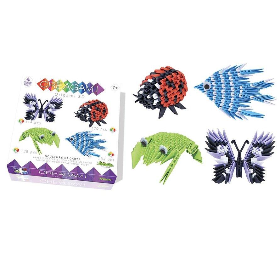 Origami Set Animals 3D 4-pcs