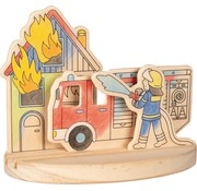 GOKI Wooden colouring picture, fire engines