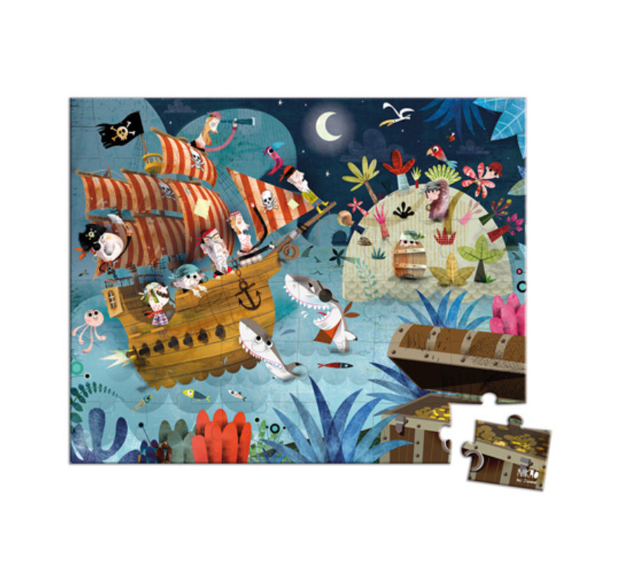 Puzzel Piraten in Opbergkoffer