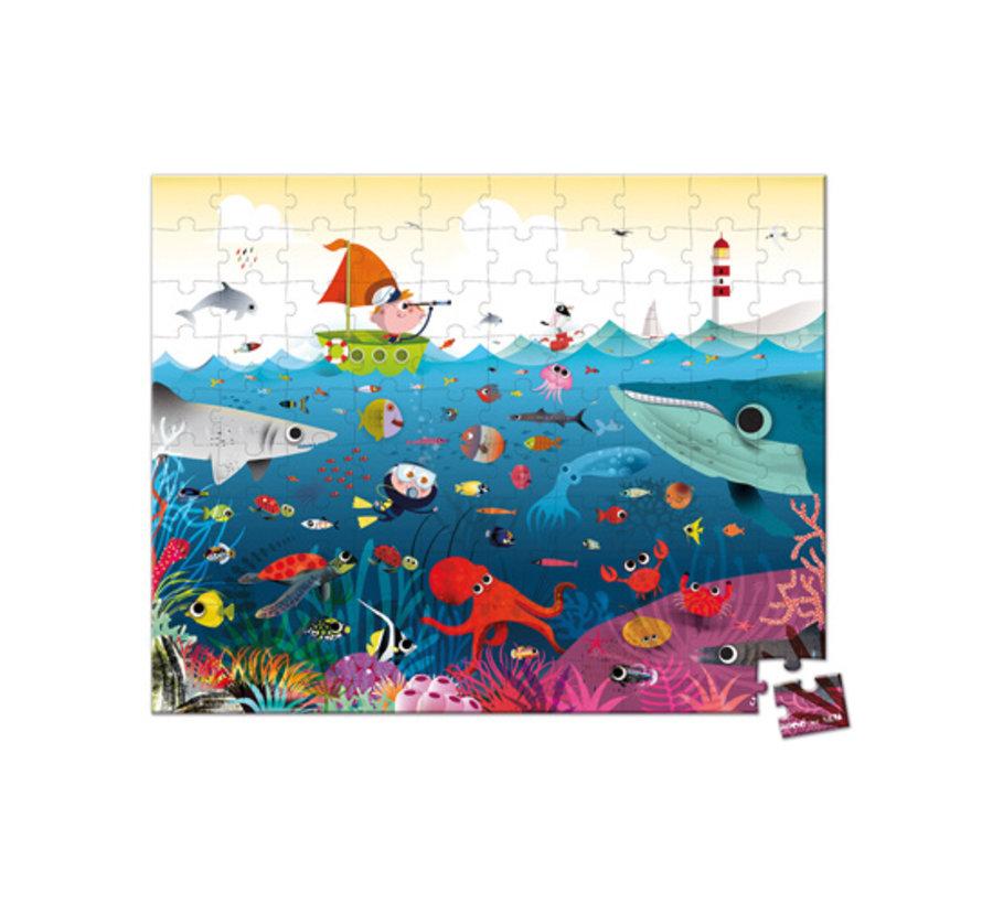 Puzzel Onderwaterwereld in Opbergkoffer