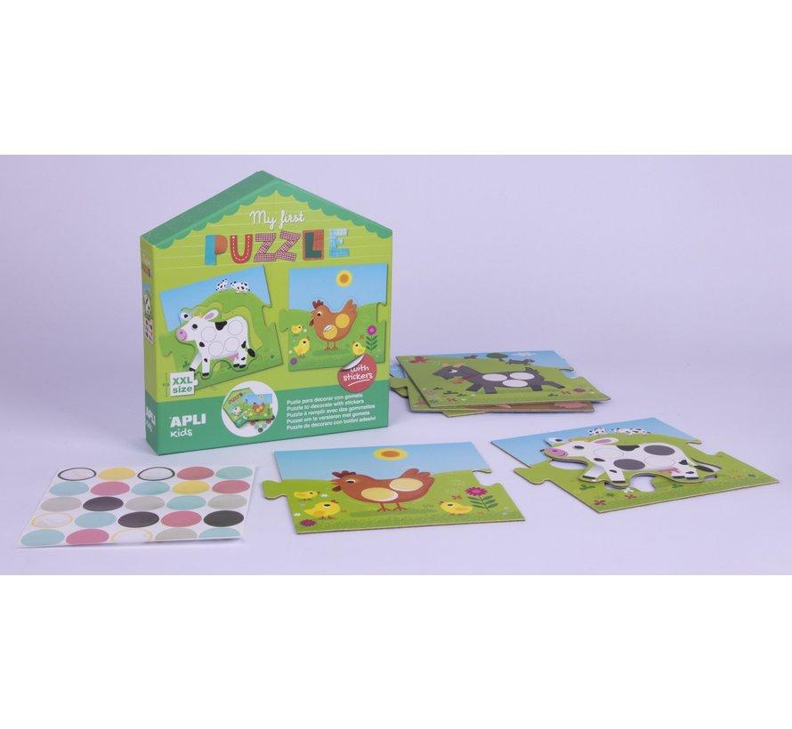 Puzzel met Stickers Mijn Eerste Puzzel