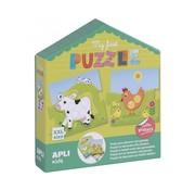 APLI Puzzel met Stickers Mijn Eerste Puzzel