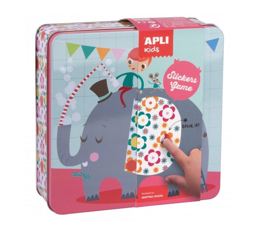 Stickerspel in Blik Party Animals