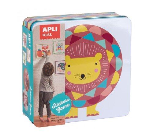 APLI Stickerspel in Blik Geometrische Dieren