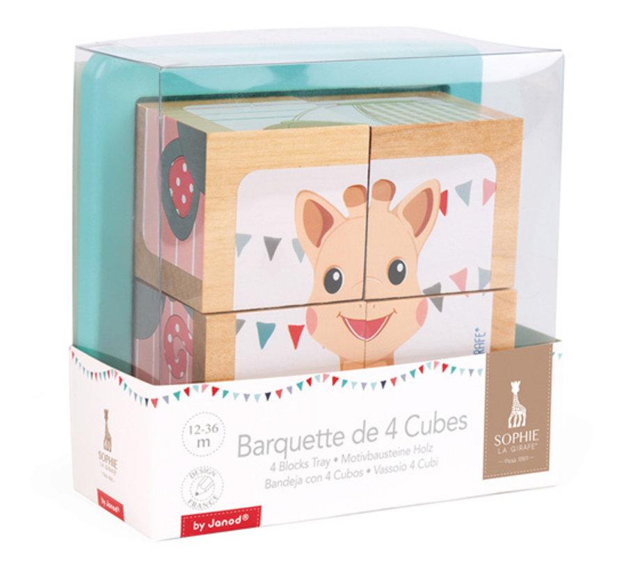 Blokkenpuzzel Sophie de Giraf Hout