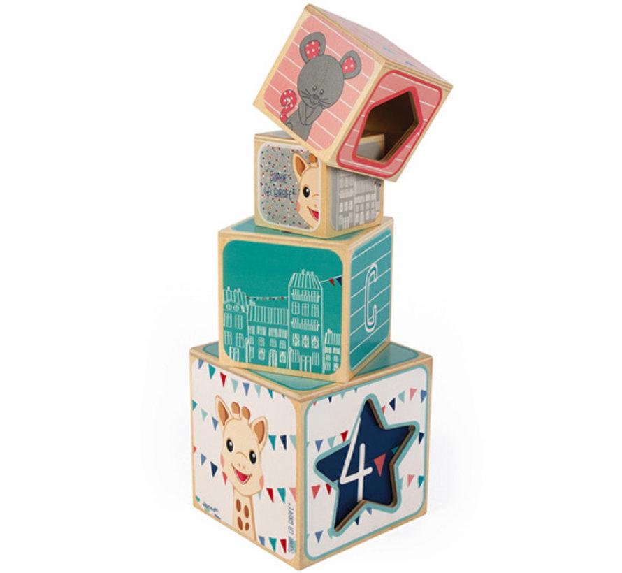 Stapeltoren Blokken Sophie de Giraf