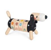 Janod Hond in Sweet Cocoon Vormen en Kleuren Hout