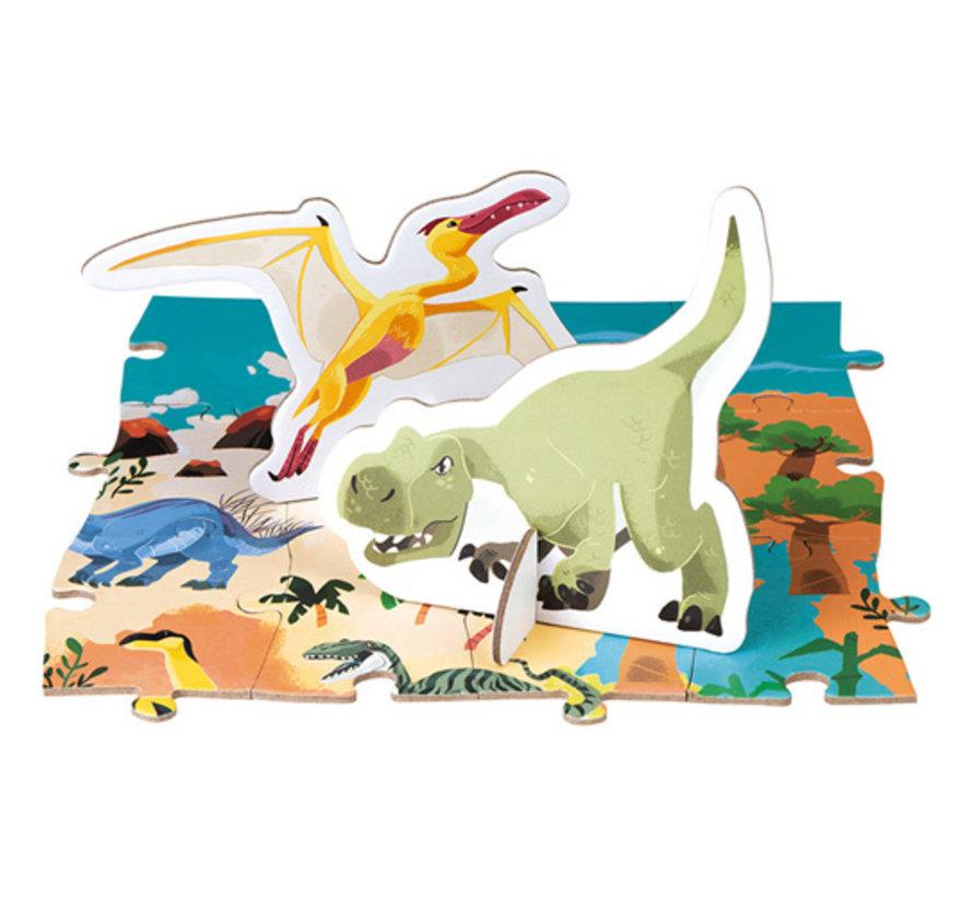 Reuzenpuzzel Educatief Dinosaurussen 200 pcs