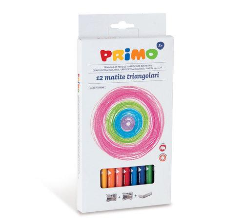 Primo Jumbo kleurpotlood 3-zijdig ø5.5mm in doos Set 12-delig