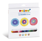 Primo Minabella kleurpotloden ø3.8mm Set 24-delig in doos