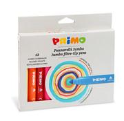 Primo Jumbo viltstiften (fiber punt) ø7.6mm Set 12-delig in doos