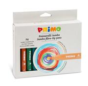 Primo Jumbo viltstiften (fiber punt) ø7.6mm Set 24-delig in doos