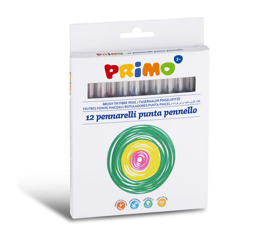Primo Viltstiften uitwasbaar dun ø4mm Set 12-delig in doos
