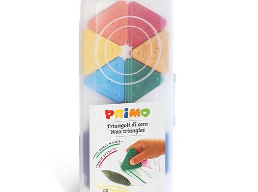 Primo Driehoek waskrijt zijde 50mm Set 12-delig in box